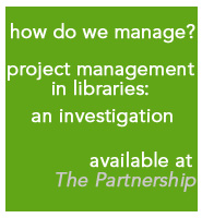 research article on PM in libraries available at The Partnership